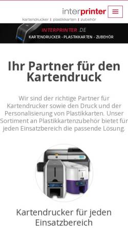 Vorschau der mobilen Webseite www.interprinter.de, Interprinter