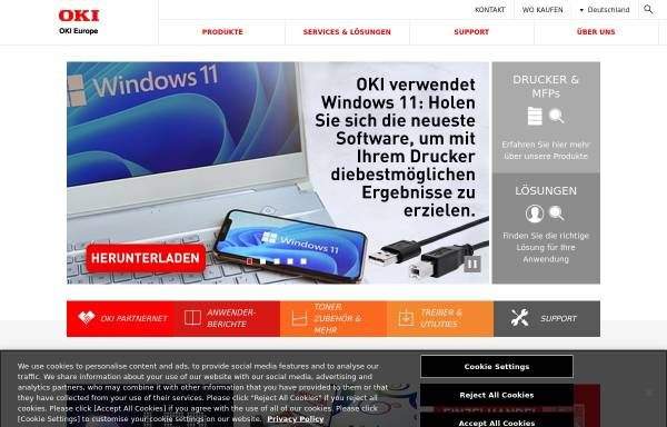 Vorschau von www.oki.de, OKI Systems GmbH