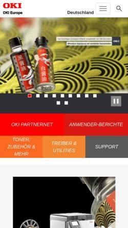 Vorschau der mobilen Webseite www.oki.de, OKI Systems GmbH