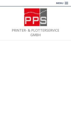 Vorschau der mobilen Webseite www.printerservice.ch, POS Printer on-site Service