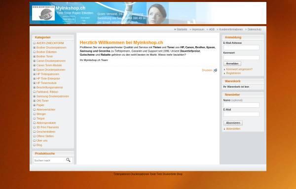 Vorschau von www.myinkshop.ch, Swiss Printtec GmbH