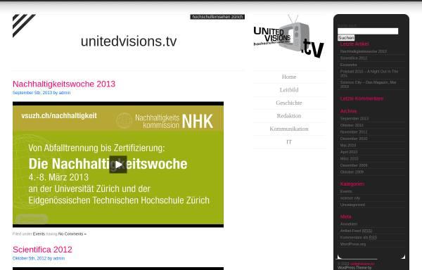 Vorschau von www.unitedvisions.tv, United Visions