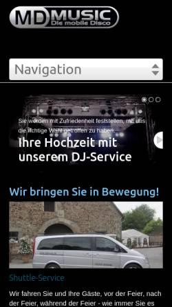 Vorschau der mobilen Webseite www.mdmusic.de, MD Music