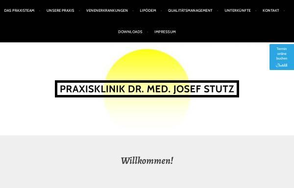 Vorschau von www.stutz-dr.com, Praxisklinik Praxisklinik Praxisklinik und Privatpraxis Dr. med. Josef J. Stutz