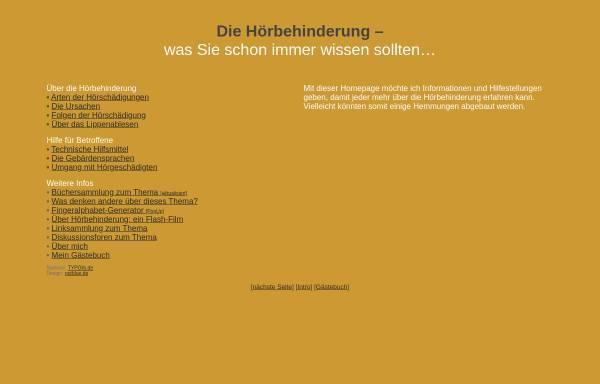 Vorschau von www.typolis.de, Hörschädigung