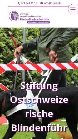 Vorschau der mobilen Webseite o-b-s.ch, Stiftung Ostschweizerischer Blindenführhundeschule