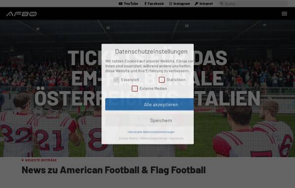 Vorschau von www.football.at, American Football Bund Österreich