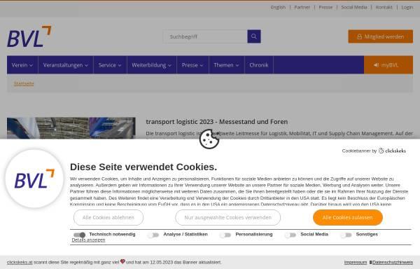 Vorschau von www.bvl.de, BVL Bundesvereinigung Logistik e. V.