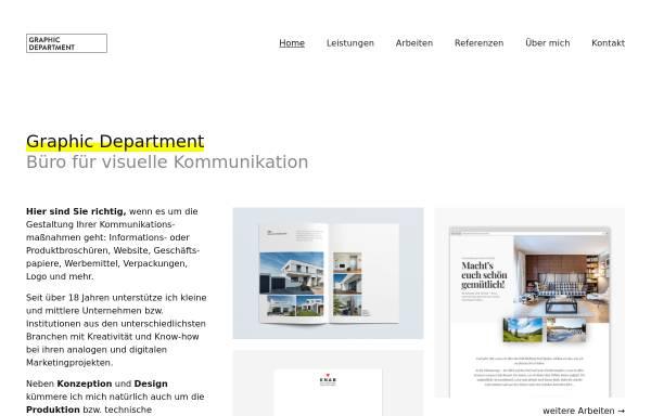Vorschau von graphic-dept.de, Graphic Department