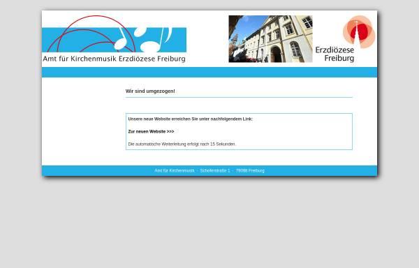 Vorschau von www.afk-freiburg.de, Amt für Kirchenmusik Freiburg