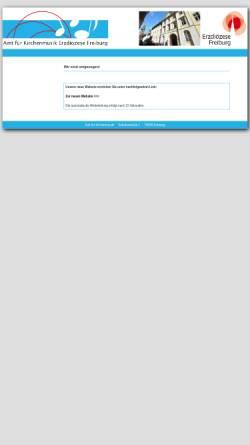 Vorschau der mobilen Webseite www.afk-freiburg.de, Amt für Kirchenmusik Freiburg