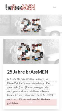 Vorschau der mobilen Webseite www.brassmen.de, Brassmen