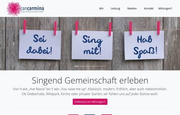 Vorschau von www.cancarmina.de, can carmina - Chor
