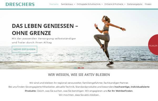 Vorschau von www.dreschers.de, Orthopädie & Sanitätshaus Dreschers GmbH