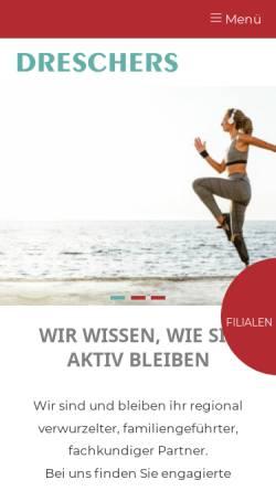 Vorschau der mobilen Webseite www.dreschers.de, Orthopädie & Sanitätshaus Dreschers GmbH