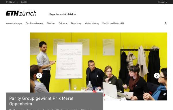 Vorschau von www.arch.ethz.ch, ETH Zürich - Departement Architektur