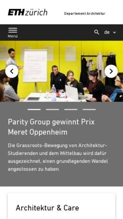 Vorschau der mobilen Webseite www.arch.ethz.ch, ETH Zürich - Departement Architektur