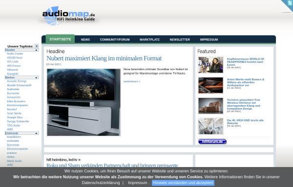 Vorschau von www.audiomap.de, Audiomap.de