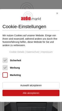 Vorschau der mobilen Webseite www.audio-markt.de, Audio-Markt
