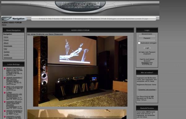 Vorschau von www.audiovideoforum.de, Audio-Video Forum