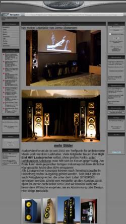 Vorschau der mobilen Webseite www.audiovideoforum.de, Audio-Video Forum