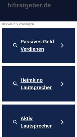 Vorschau der mobilen Webseite www.hifiratgeber.de, HiFi-Ratgeber