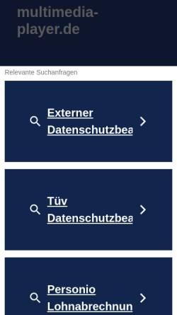 Vorschau der mobilen Webseite www.multimedia-player.de, Multimedia-Player.de