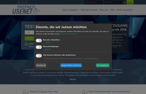 Vorschau von www.prepaid-usenet.de, PrePaid-Usenet