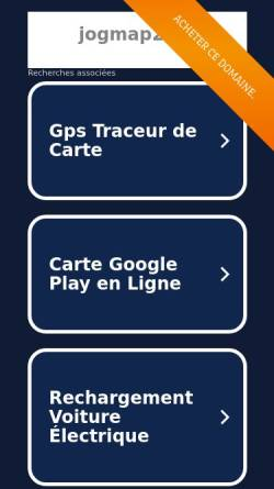 Vorschau der mobilen Webseite www.jogmap.de, Jogmap.de
