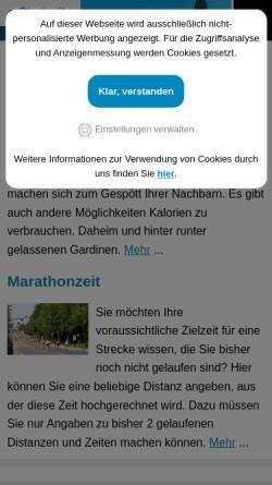 Vorschau der mobilen Webseite laufleistung.net, Laufleistung
