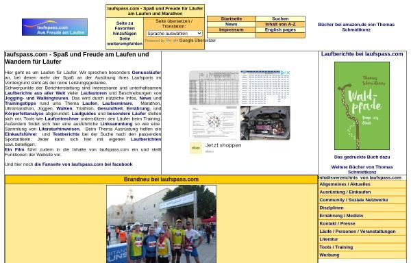 Vorschau von laufspass.com, Laufspaß