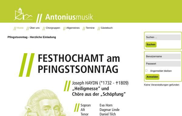 Vorschau von www.antoniusmusik.de, Kirchenmusik St. Antonius Wuppertal Barmen