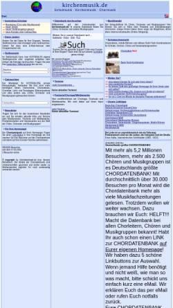 Vorschau der mobilen Webseite www.kirchenmusik.de, kirchenmusik.de - die Chordatenbank für Kirchenchöre
