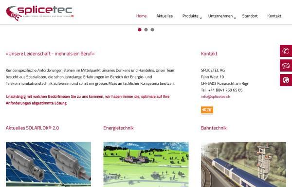 Vorschau von www.splicetec.ch, Splicetec AG