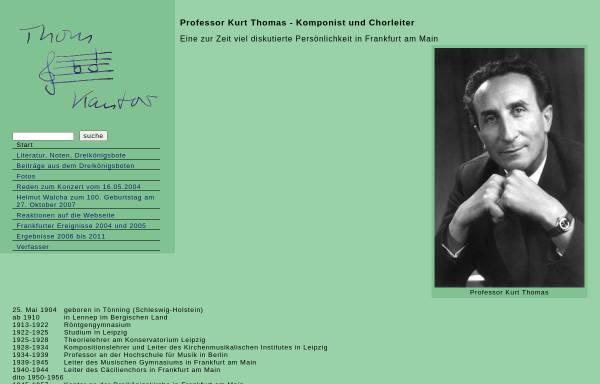 Vorschau von www.kurtthomas.de, Kurt Thomas