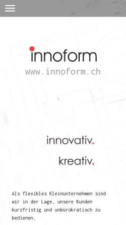Vorschau der mobilen Webseite www.innoform.ch, Innoform AG