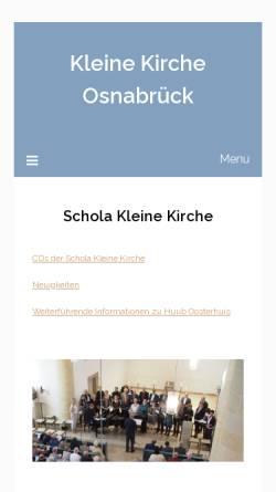 Vorschau der mobilen Webseite www.schola-kleine-kirche.de, Poetische Liturgie von Huub Oosterhuis