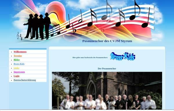 Vorschau von blas-mit.npage.de, Posaunenchor des CVJM Styrum