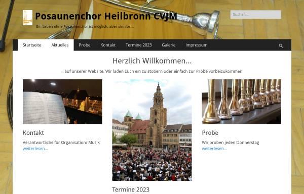 Vorschau von www.posaunenchor-heilbronn.de, Posaunenchor Heilbronn CVJM