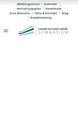 Vorschau der mobilen Webseite www.eulegym.de, Johann Gottfried Herder Gymnasium