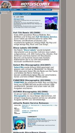 Vorschau der mobilen Webseite www.hotdiscomix.de, Hot Disco Mix