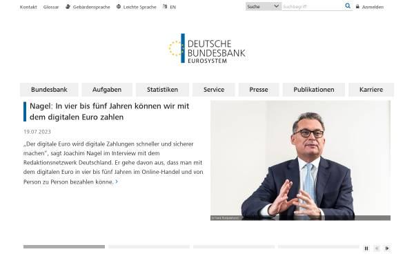 Vorschau von www.bundesbank.de, Deutsche Bundesbank