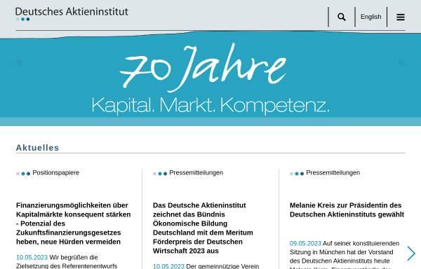 Vorschau von www.dai.de, Deutsches Aktieninstitut e.V.