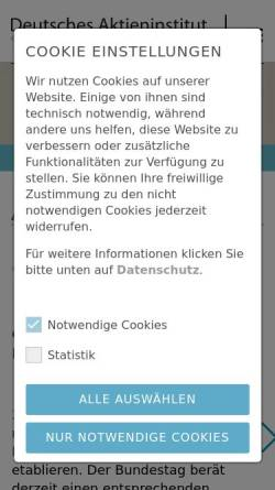 Vorschau der mobilen Webseite www.dai.de, Deutsches Aktieninstitut e.V.