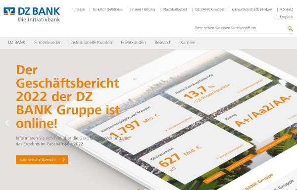 Vorschau von www.dzbank.de, DZ Bank AG - Deutsche Zentral-Genossenschaftsbank