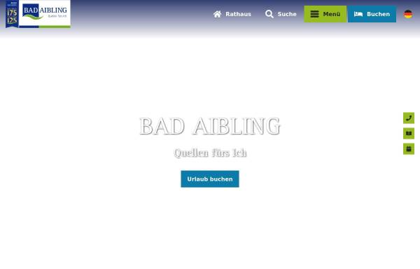 Vorschau von www.bad-aibling.de, Stadt Bad Aibling