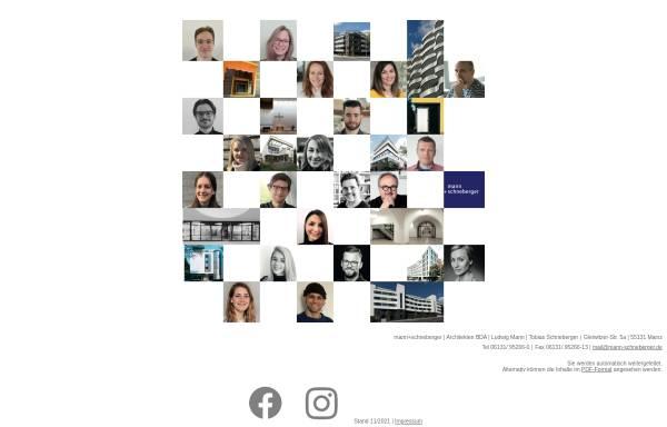 Vorschau von www.mann-schneberger.de, Architekturbüro Mann + Schneberger GbR