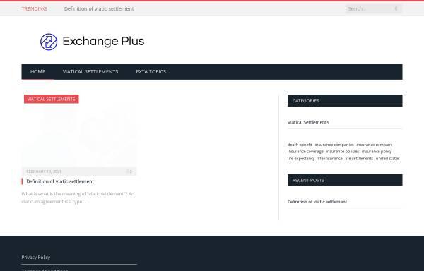Vorschau von www.exchange-plus.com, eXchange Plus GmbH