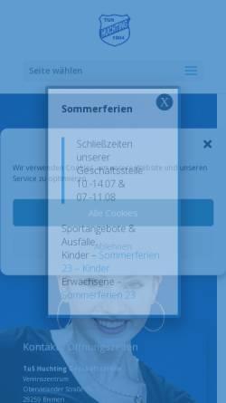 Vorschau der mobilen Webseite tushuchting.de, Team-Schwimmen des TuS Huchting