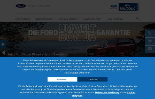 Vorschau von www.autohaus-geissel.de, Auto Geissel Vertriebs GmbH